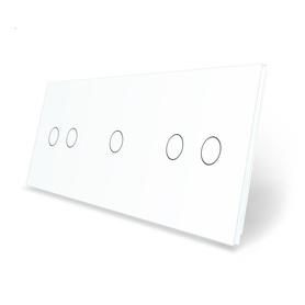Panel szklany 2+1+2 biały WELAIK