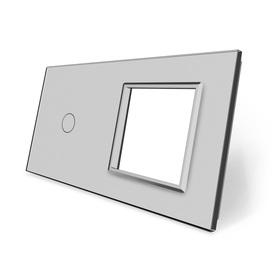 Panel szklany 1+G szary