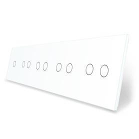 Panel szklany 1+2+2+2+2 biały WELAIK