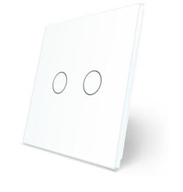 C2-11 Podwójny biały panel szklany