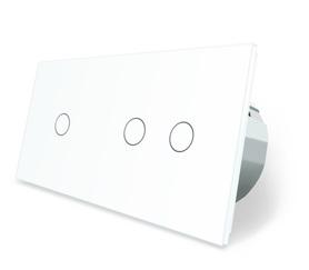 Włącznik dotykowy 1+2 biały zestaw WELAIK