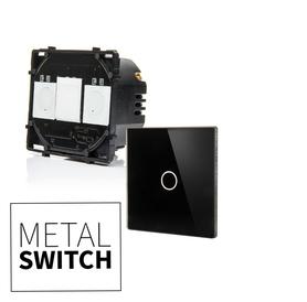 MetalSwitch moduł włącznika schodowego z panelem czarnym
