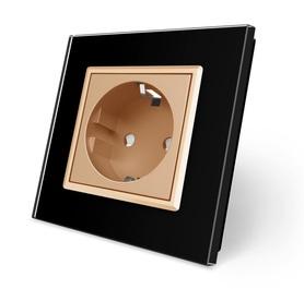 Gniazdo pojedyncze w ramce szklanej czarno-złote