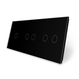 Panel szklany 1+2+2 czarny WELAIK