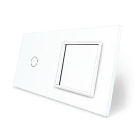 Panel szklany 1+G biały