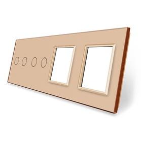 Panel szklany 2+2+G+G złoty