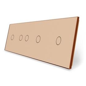 Panel szklany 1+2+1+1 złoty