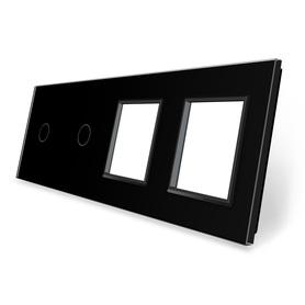 Panel szklany 1+1+G+G czarny