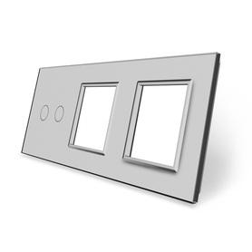 Panel szklany 2+G+G szary