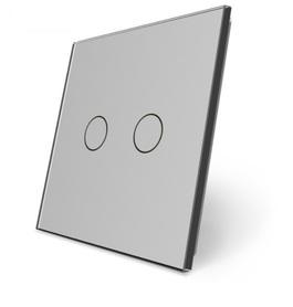 C2-15 Podwójny szary panel szklany