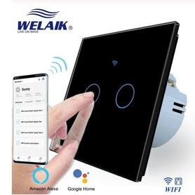 Włącznik WIFI roletowy / żaluzjowy zestaw czarny WELAIK ®