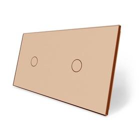 Panel szklany 1+1 złoty