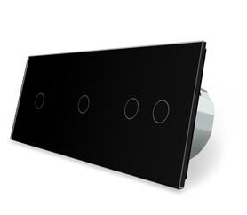 Włącznik dotykowy 1+1+2 czarny zestaw WELAIK