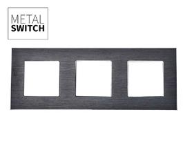 MetalSwitch ramka potrójna aluminiowa czarna
