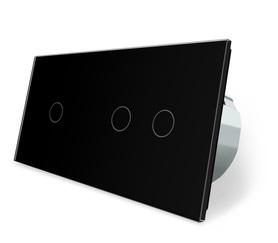 Włącznik dotykowy 1+2 czarny zestaw WELAIK