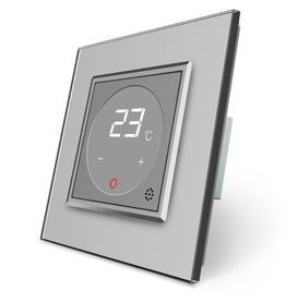 Termostat pokojowy regulator temperatury 01TM-15/SR-15 komplet z ramką szklaną LIVE ON LOVE