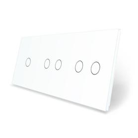 Panel szklany 1+2+2 biały WELAIK