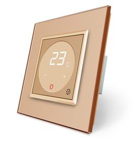 Termostat pokojowy regulator temperatury 01TM-13/SR-13 komplet z ramką szklaną LIVE ON LOVE