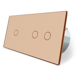 Włącznik dotykowy 1+2 złoty zestaw
