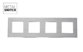 MetalSwitch ramka poczwórna aluminiowa srebrna
