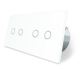 Włącznik dotykowy 2+2 biały zestaw WELAIK