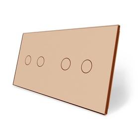 Panel szklany 2+2 złoty