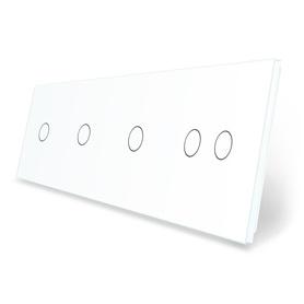 Panel szklany 1+1+1+2 biały LIVE ON LOVE