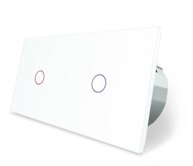 Włącznik dotykowy 1+1 biały zestaw