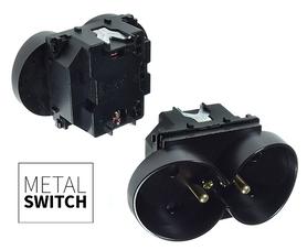 MetalSwitch moduł gniazdka podwójnego czarny