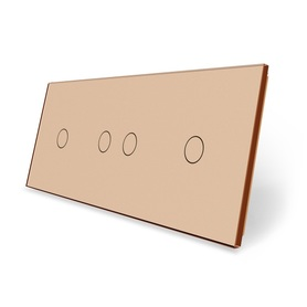 Panel szklany 1+2+1 złoty