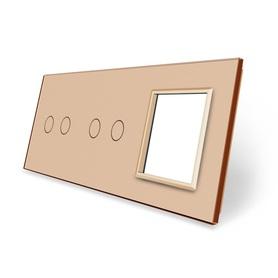Panel szklany 2+2+G złoty