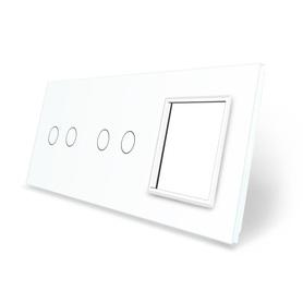 Panel szklany 2+2+G biały WELAIK
