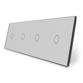 Panel szklany 1+1+1+1 szary