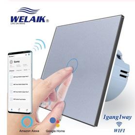 Włącznik WIFI dotykowy pojedynczy szary zestaw WELAIK ®