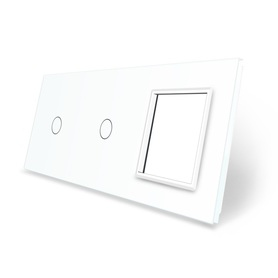 Panel szklany 1+1+G biały LIVE ON LOVE