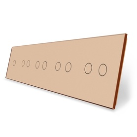 Panel szklany 1+2+2+2+2 złoty