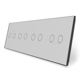 Panel szklany 2+2+2+2 szary