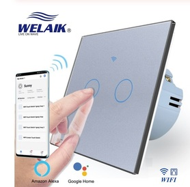 Włącznik WIFI roletowy / żaluzjowy zestaw szary WELAIK ®