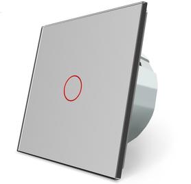 Włącznik dotykowy pojedynczy szary zestaw WELAIK