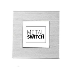 MetalSwitch ramka pojedyncza aluminiowa srebrna