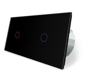 Włącznik dotykowy 1+1 czarny zestaw