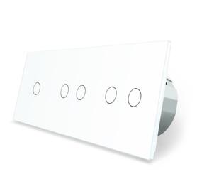 Włącznik dotykowy 1+2+2 biały zestaw WELAIK