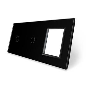 Panel szklany 1+1+G czarny LIVE ON LOVE