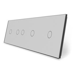 Panel szklany 1+2+1+1 szary