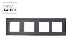 MetalSwitch ramka poczwórna aluminiowa czarna