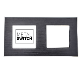 MetalSwitch ramka podwójna aluminiowa czarna
