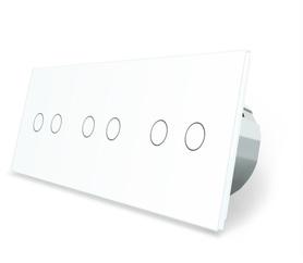 Włącznik dotykowy 2+2+2 biały zestaw WELAIK