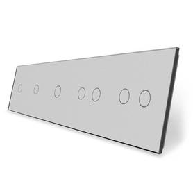 Panel szklany 1+1+1+2+2 szary