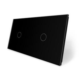 Panel szklany 1+1 czarny WELAIK