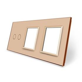 Panel szklany 2+G+G złoty